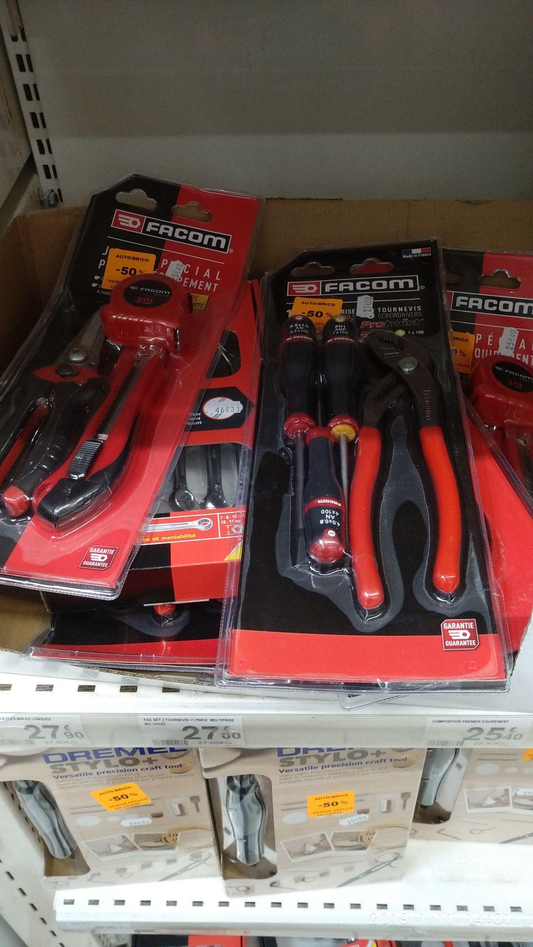 Lot de produit Facom exemple 6 clés mixtes - Auchan de guilherand Grange (07)