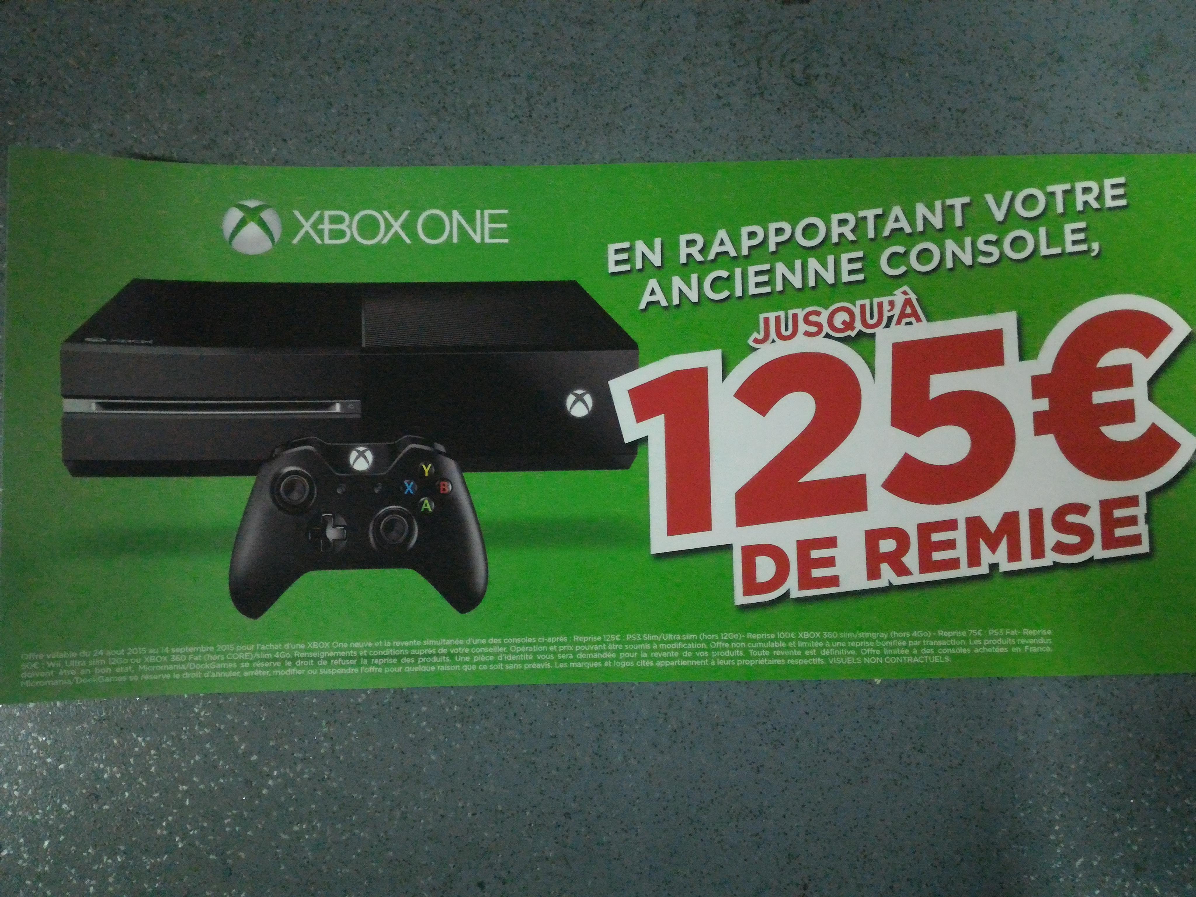 Jusqu'à 125€ de remise sur une Xbox One en échange d'une PS3, Xbox 360 ou Wii