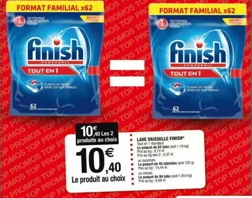 2 Paquets de 84 Tablettes pour lave vaisselle Finish Powerball Classic- Soit 168 Tablettes