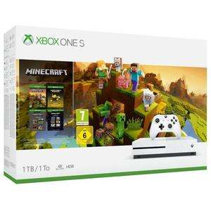 Pack Console Xbox One S (Blanc) - 1 To + Minecraft Creator