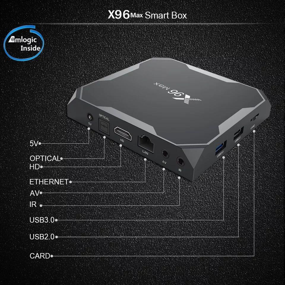 Box TV X96 Max - Amlogic S905X2, RAM 4Go, 64Go + 4,36€ en Super Points
