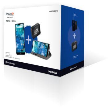 """Pack smartphone 5.84"""" Nokia 7.1 (3 Go de RAM, 32 Go) + enceinte Blueetooth + protection (via ODR de 30€) (Via ODR de 30€)"""