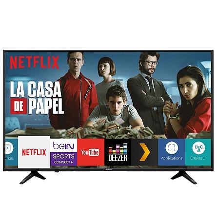 """TV 43"""" Hisense H43A6140 - 4K UHD, Smart TV, HDR"""