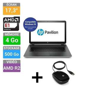 "PC Portable 17"" HP Pavilion Notebook 17-f227nf + Souris filaire HP X1200 (50€ ODR)"