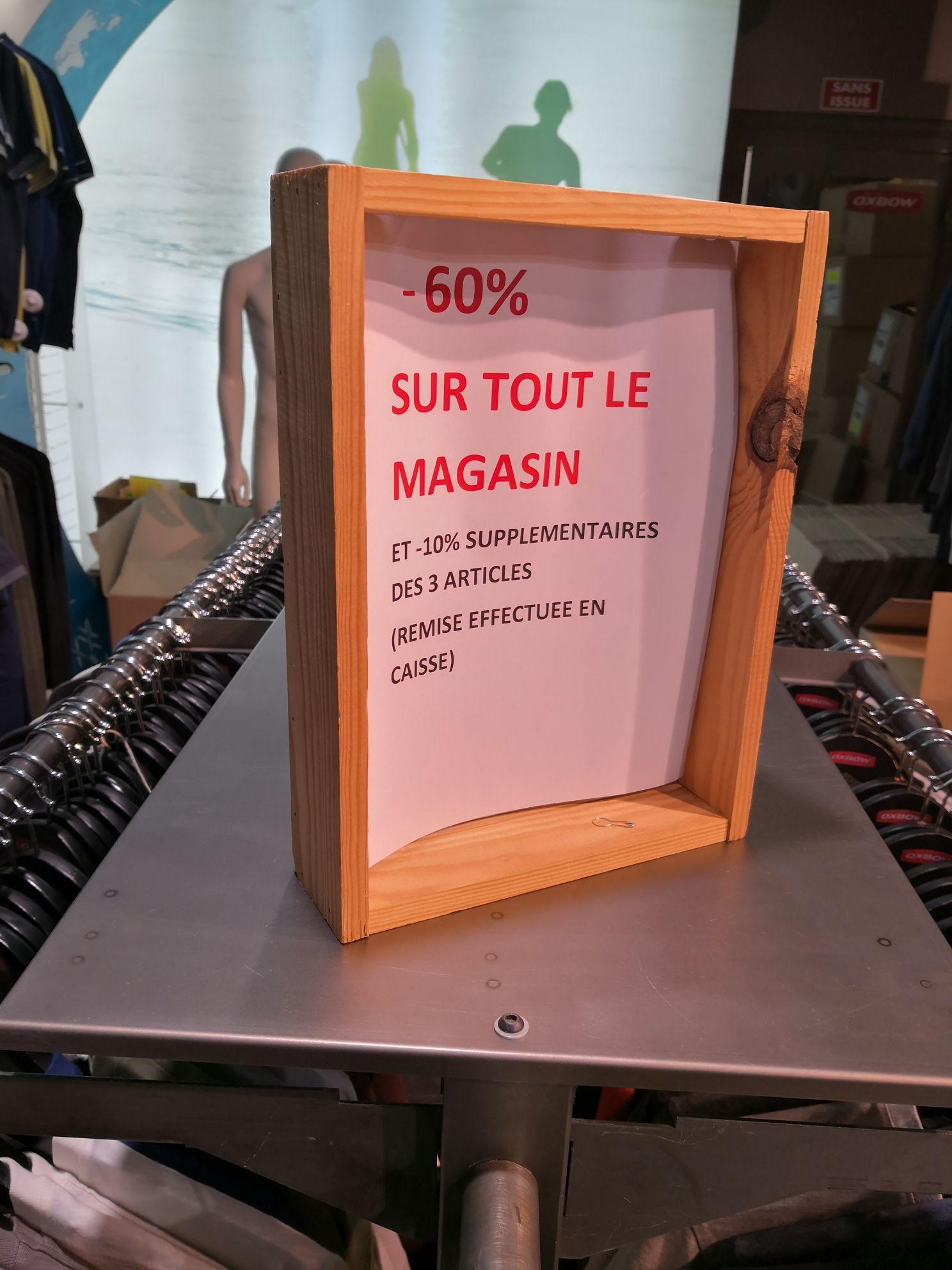 60% et -10% supplémentaire dès 3 articles acheté - Oxbow Lille (59)