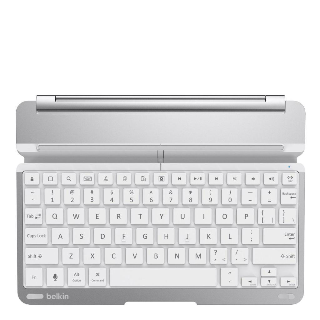 Clavier sans fil Belkin F5L155edGRY pour iPad Air Thin Type blanc