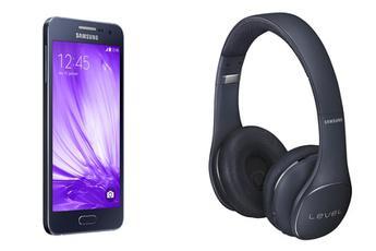 """Smartphone 4.5"""" Samsung Galaxy A3 + Casque Bluetooth Level On (via ODR de 30€)"""
