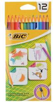 lot de 12 crayons de couleur BIC