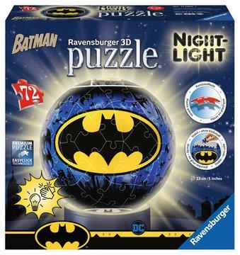 Puzzle 3D rond 72 pièces, illuminé - Batman (via ODR)