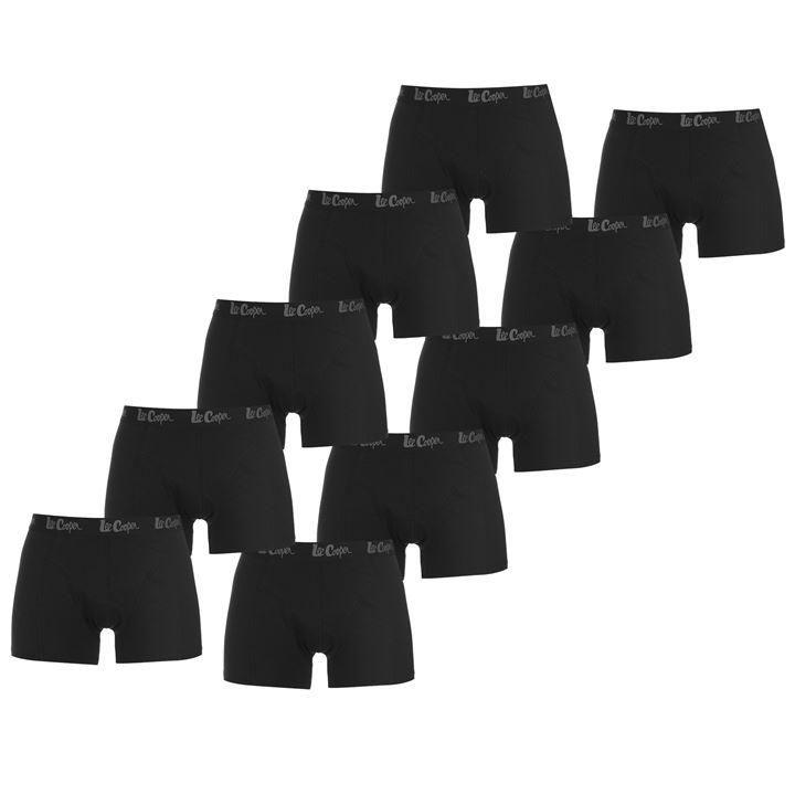 Lot de 10 boxers Lee Cooper - Noir