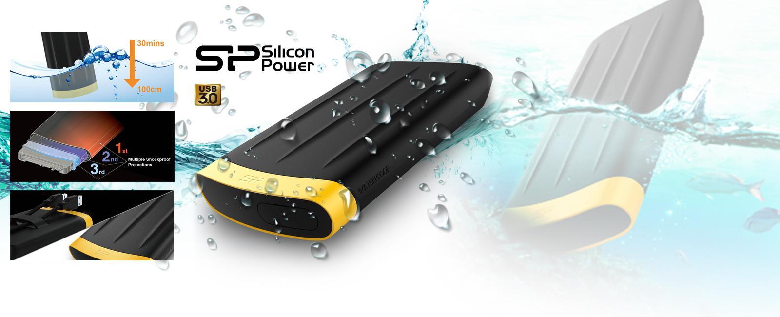 Disque dur externe USB 3.0 Silicon Power Armor 65 - 1To