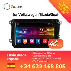 Autoradio Android Ownice C500 G10 pour VW (via application)