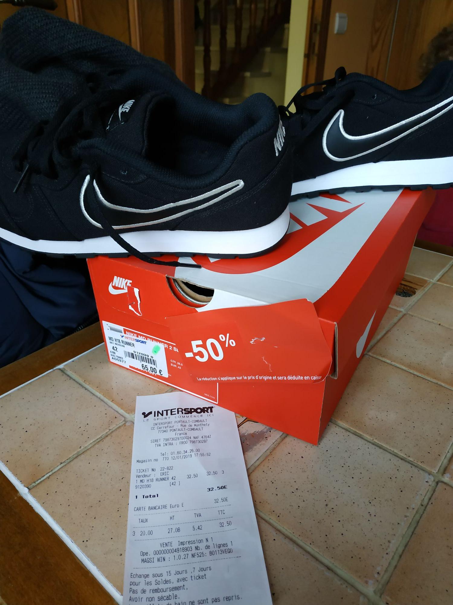 Chaussures de running Nike MD H18 Runner - Noir - Pontault Combault (77)