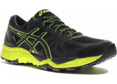 Paire de chaussures de trail Asics FujiTrabuco 6 GoreTex - Noir et Jaune