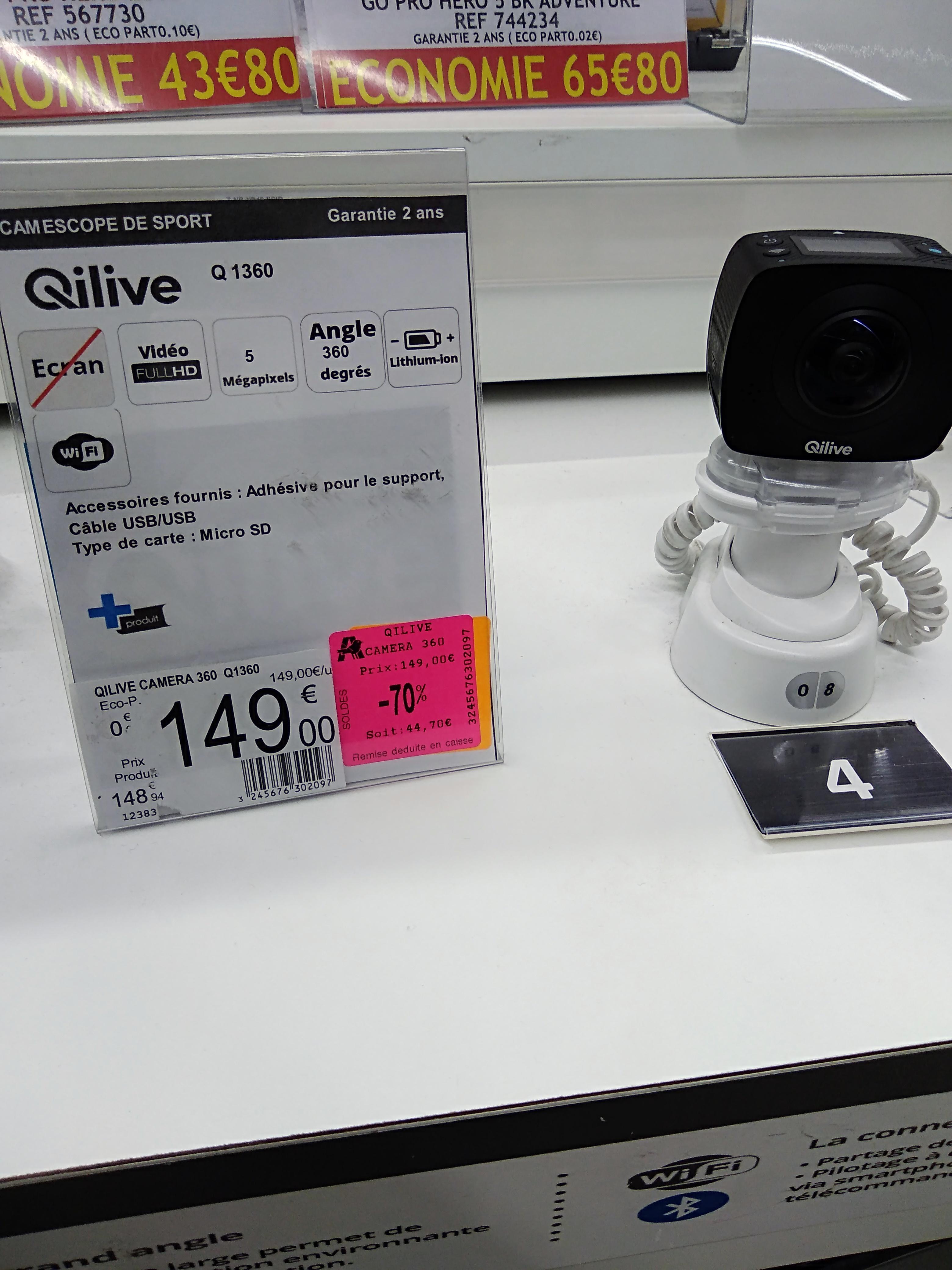 Camera action QILIVE q1360  - Auchan Gramont (31)