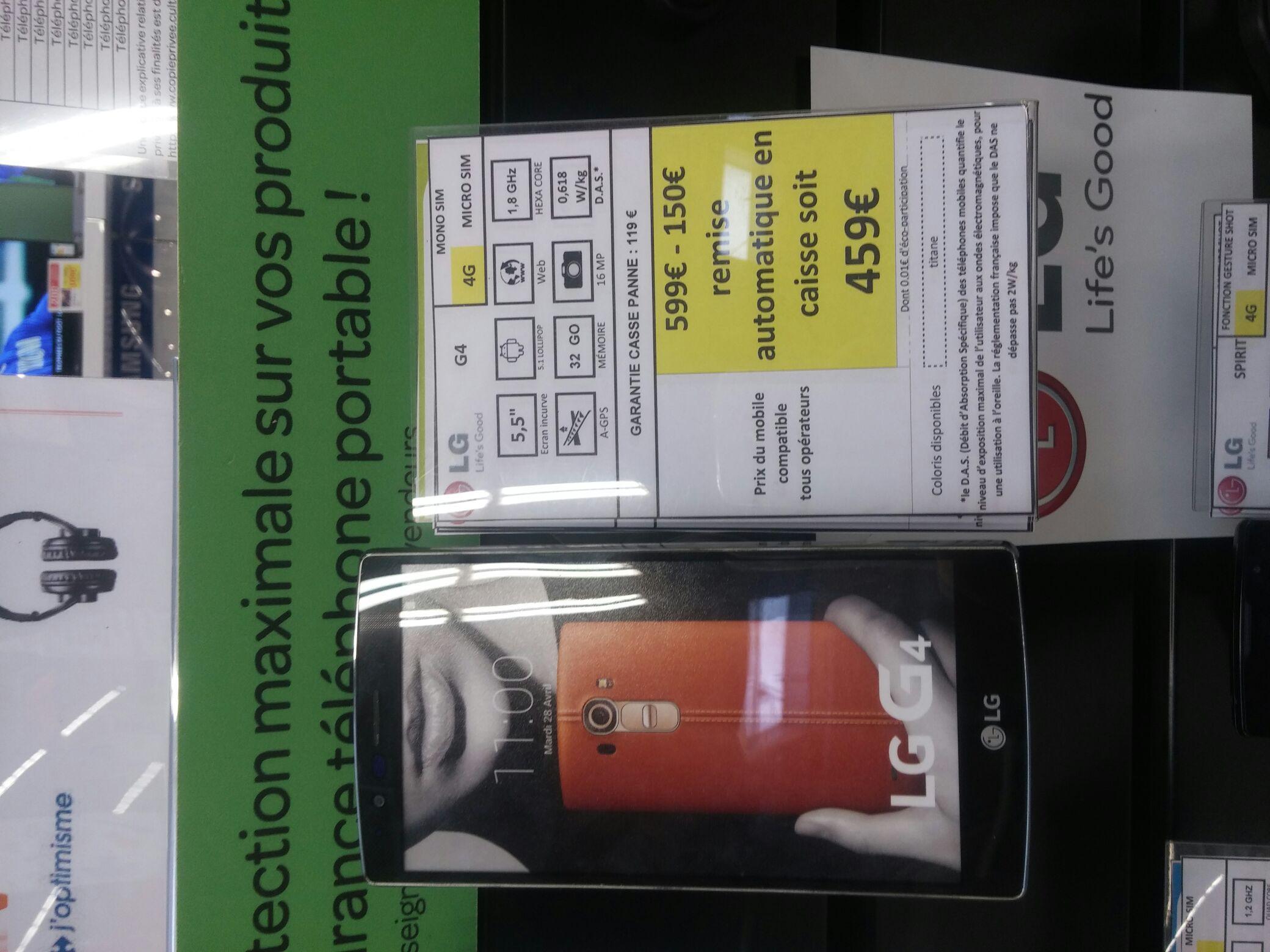 "Smartphone 5.5"" LG G4 - 4G - 32Go"
