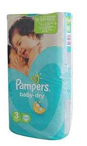 2 Packs de Couches Pampers achetés = Le 3ème offert - Ex : 3 Packs de 50 couches Pampers Baby Dry T3