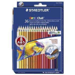 Pack de 36 Crayons de couleur Staedtler aquarellable Couleurs Assorties + Pinceau