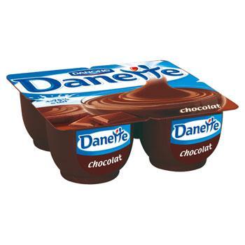 Lot de 3 x 4 pots de Danette chocolat Danone
