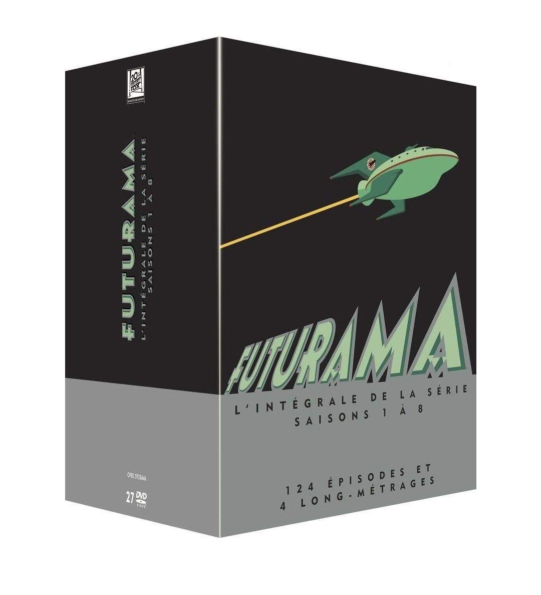 Coffret DVD Futurama - L'intégrale des Saisons 1 à 8 + 4 Longs Métrages