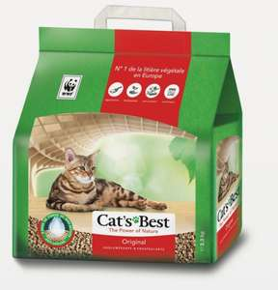Litière agglomérante végétale Cat's Best Original - 2,3kg