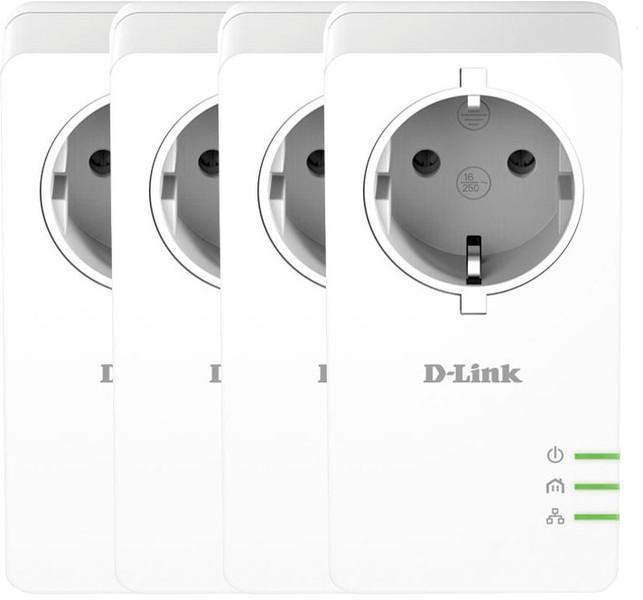 Pack de 4 adaptateurs CPL D-Link DHP-P601AV/FR - 1000mbps avec prise intégrée