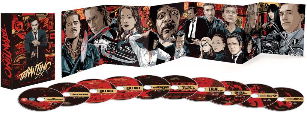 Tarantino XX : 8 films (10 Blu-rays, mais attention : 3 Blu-rays en VO, Zone A) / Port inclus
