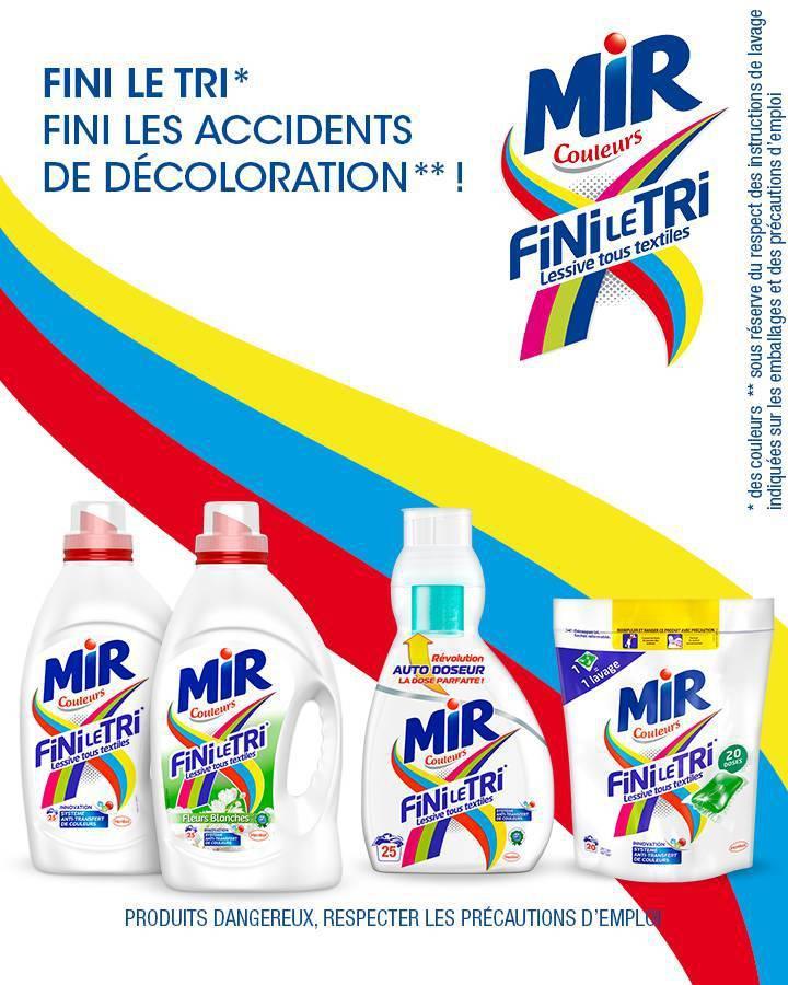Lessive Mir fini le tri (25 lavages) (via shopmium et BDR)