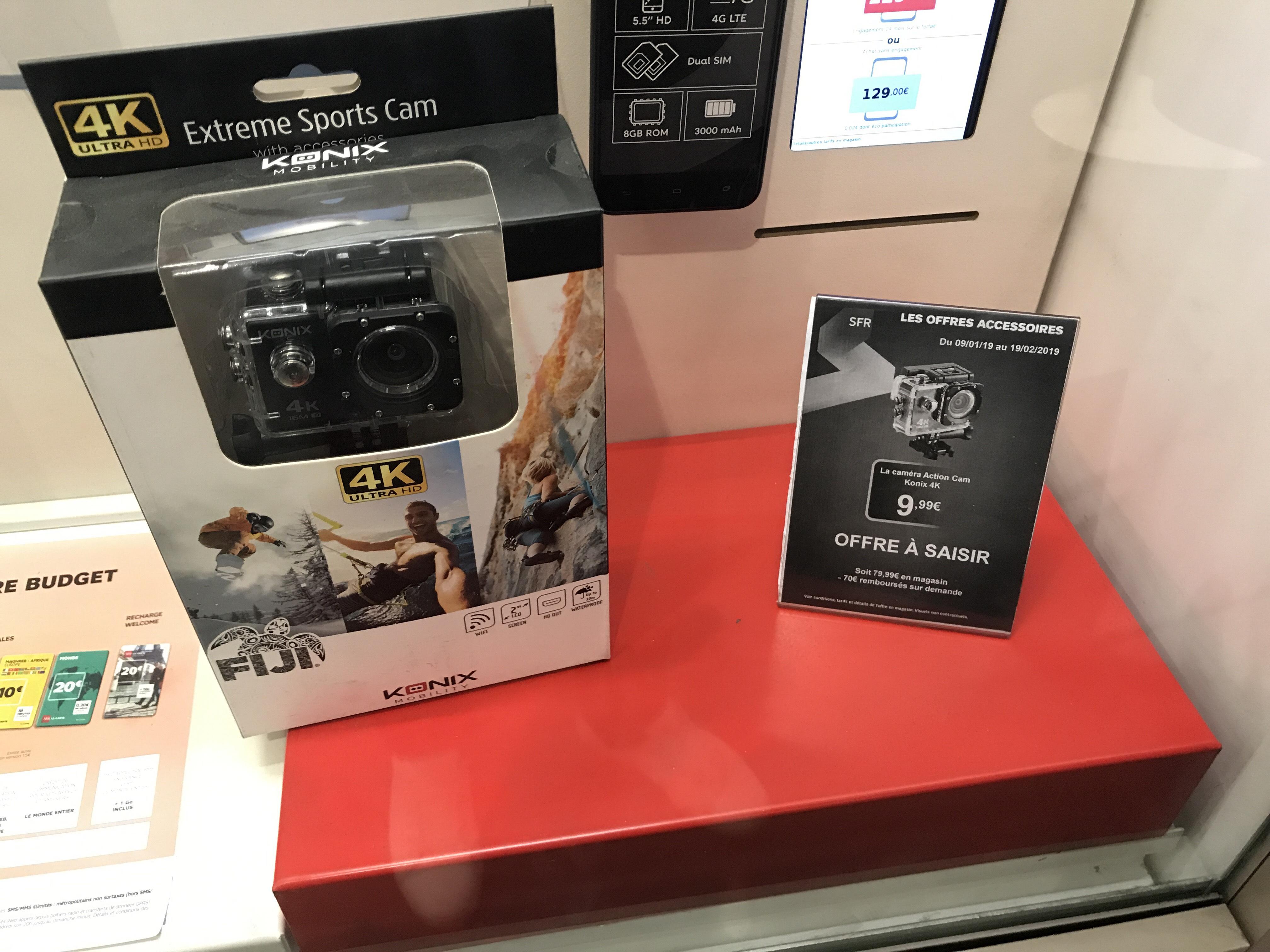 Caméra action Konix 4k (via ODR de 70€) - Bagnolet (93)