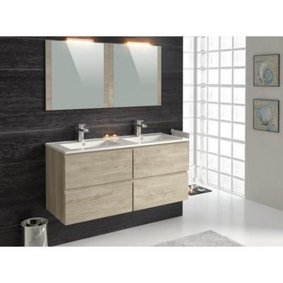 Meuble de salle de bain double vasque Fidji - 120 cm