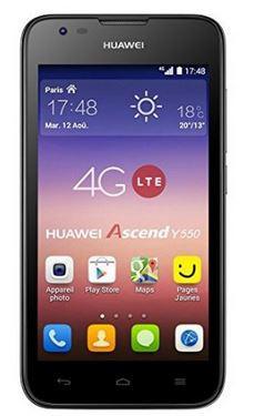 """Smartphone 4.5"""" Huawei Ascend Y550 - débloqué 4G - Noir"""