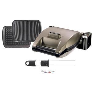 Gaufrier Lagrange Premium (019323) + 2 jeux de plaques gaufres et grill / panini + pic à gaufres