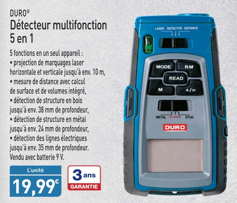 Détecteur multifonction 5 en 1 Duro
