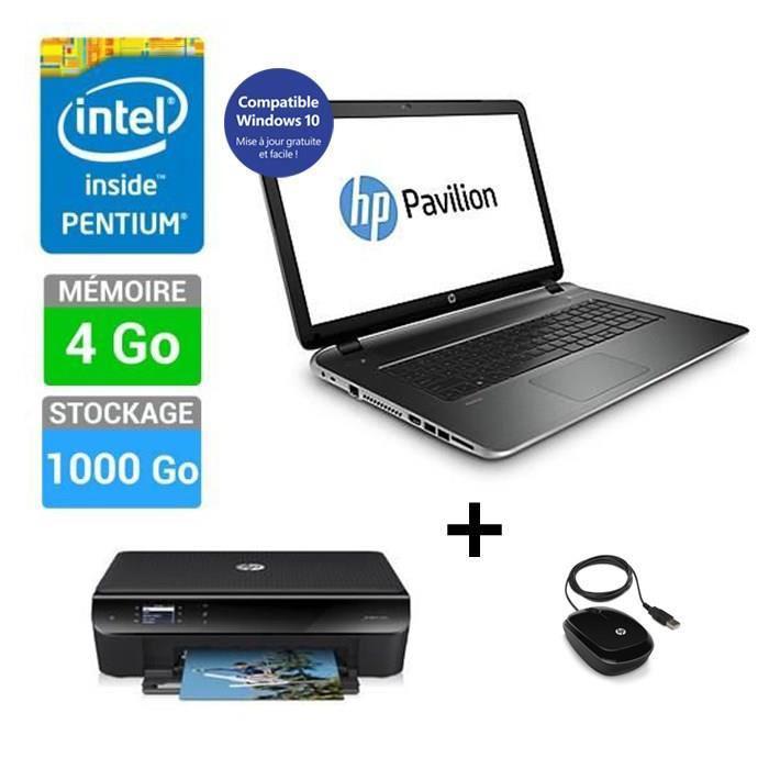 """PC Portable 17"""" HP Pavilion 17-f211nf + Imprimante HP Envy 4503 Multifonction + Souris HP X1200 (ODR 100€)"""