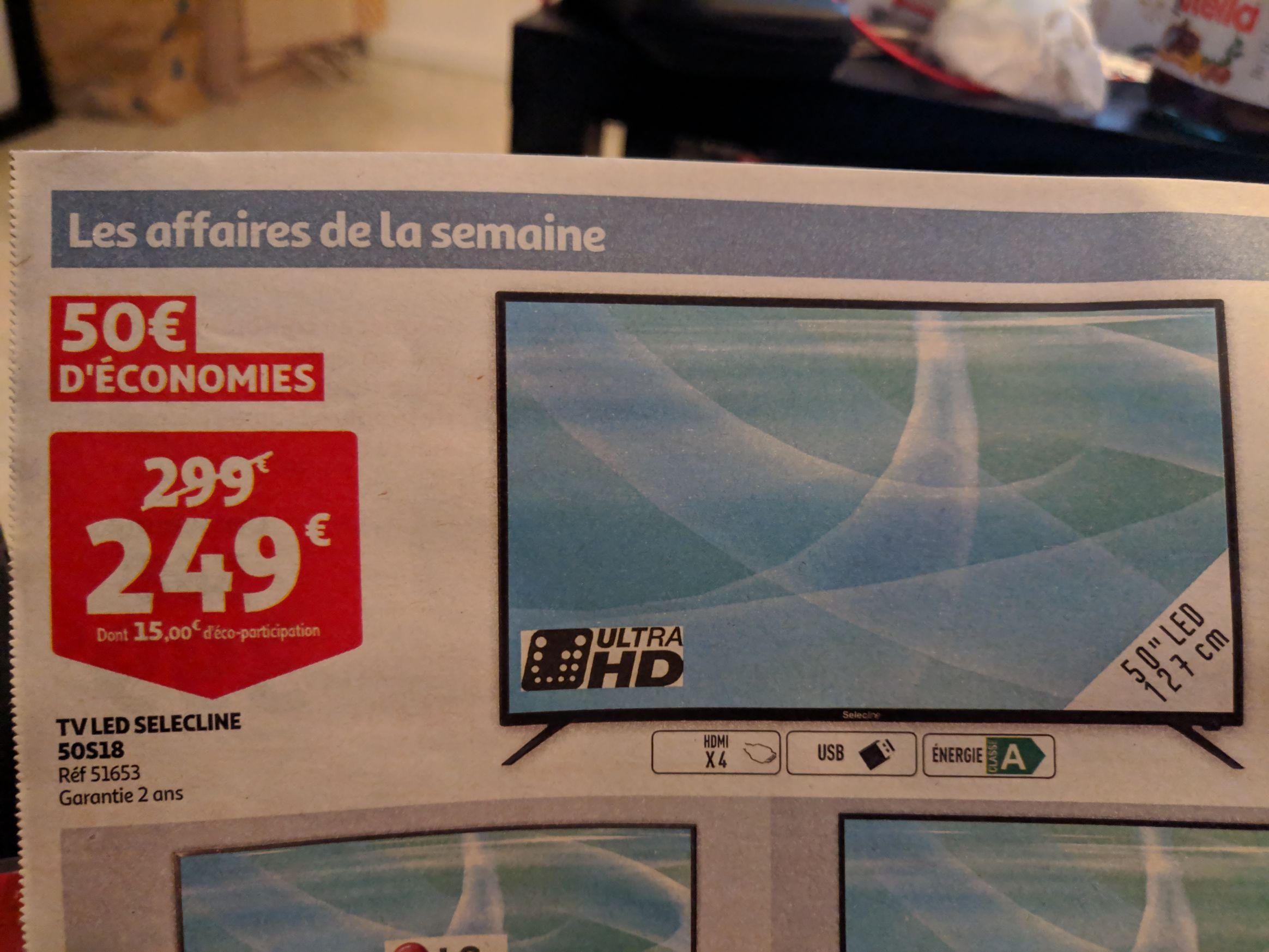 "TV LED 50"" Selecline 50S18 - UHD"