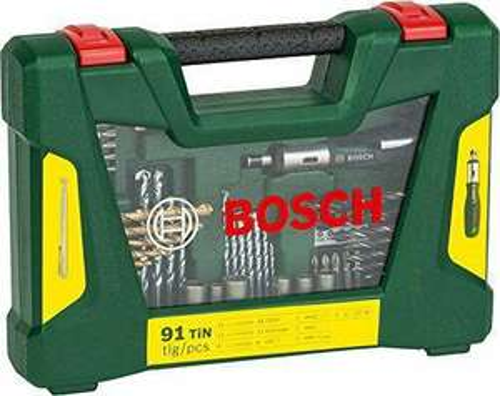 Coffret de 91 Outils de perçage/vissage  Bosch 2607017195 V-Line