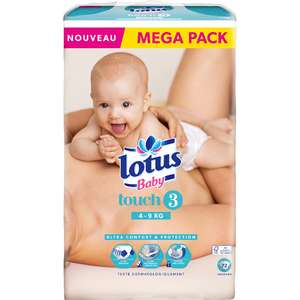 Méga pack de couches Lotus baby touch change - 4/9kg, 72 couches (Taille 3) - Laxou (54)