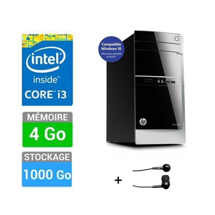 PC de bureau HP Pavilion Desktop 500-582nf + HP ecouteurs intra-auriculaires H1000 (ODR 50€)