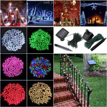 Guirlande solaire 100 led, différents coloris