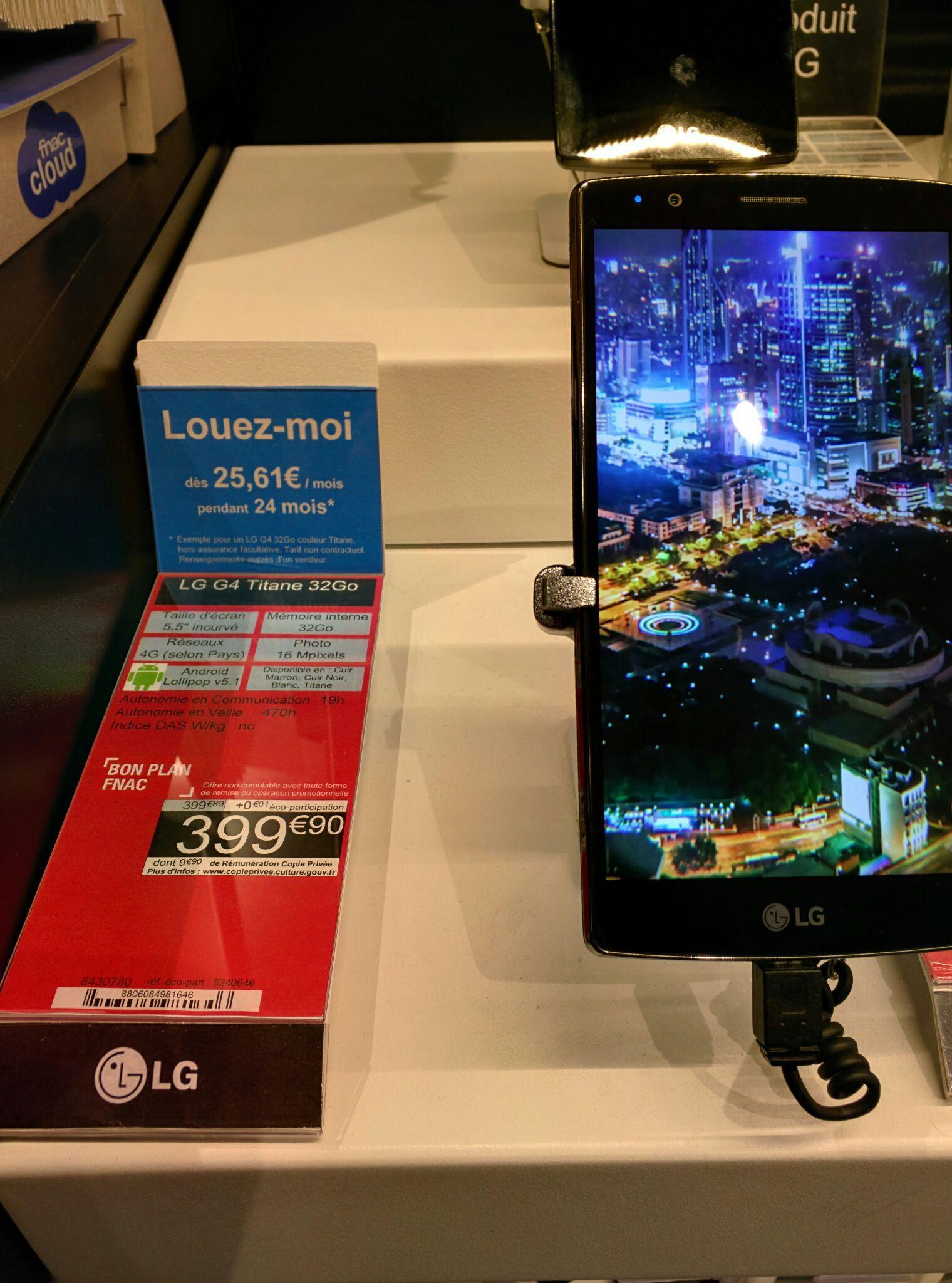 "Smartphone 5.5""  LG G4 Titane 32 Go"