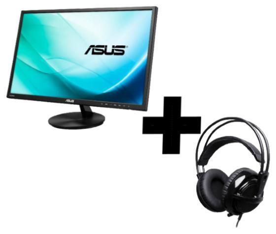 "Ecran PC 24"" Asus VN248QA (Full HD - IPS)  + Casque Micro Gamer Steelseries  Siberia v1"
