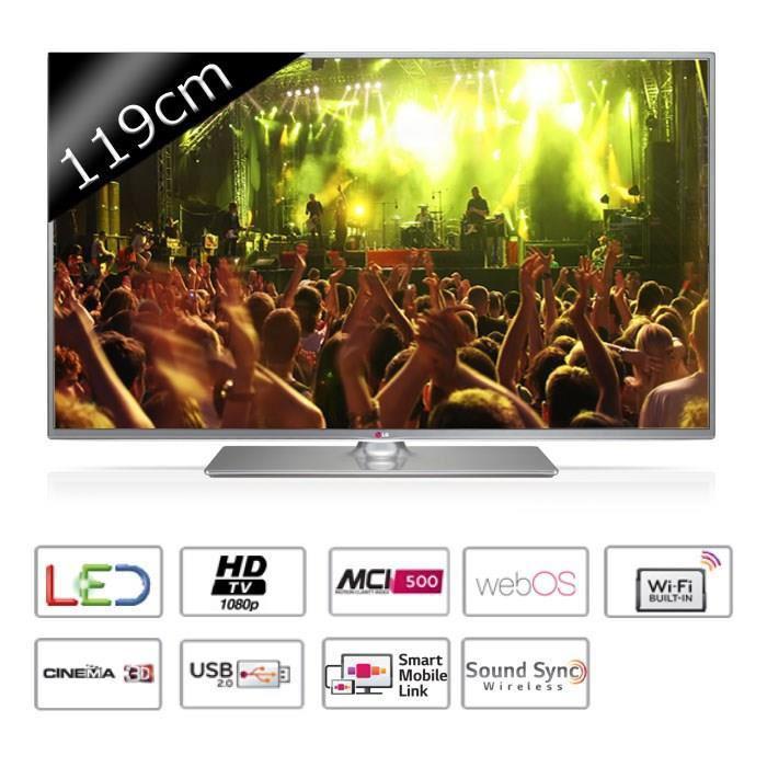 "Téléviseur 47"" LG 47LB650V - Smart TV, Full HD 3D"