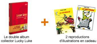 Gratuit : Le double album Collector Lucky Luke + 2 reproductions d'illustration gratuit (2.99€ de frais de port)