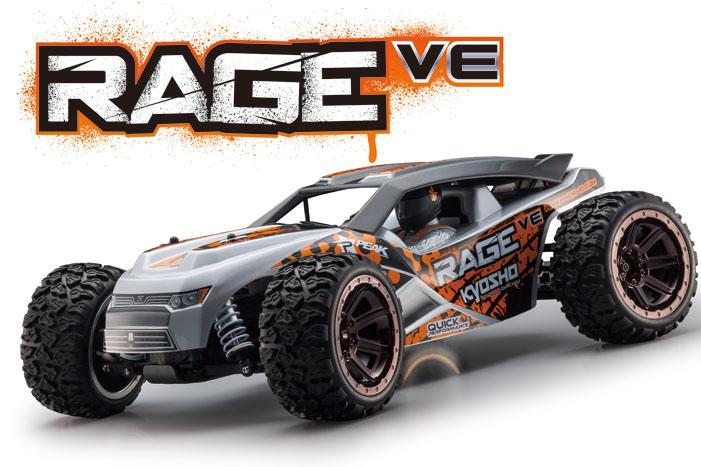 Truggy Kyosho Rage VE 1:10, 4 roues motrices, brushless, ARR