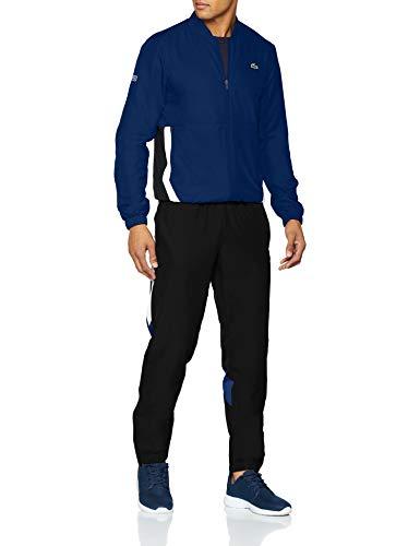 a1c0ba0eaa60 Ensemble Survêtement Lacoste Homme - Bleu/Noir (Taille S) – Dealabs.com