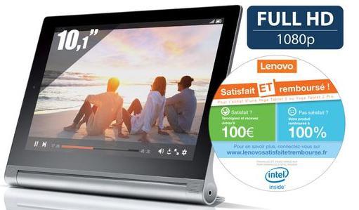 Tablette 10''    Lenovo Yoga Tablet 2 (ODR 50€)