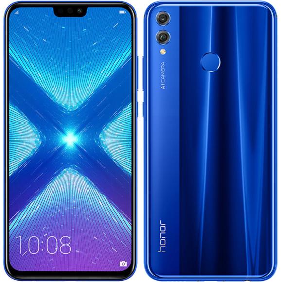 "Smartphone 6.5"" Huawei Honor 8x - 4G (B20), Full HD+, Kirin 710, 4 Go de RAM, 64 Go"