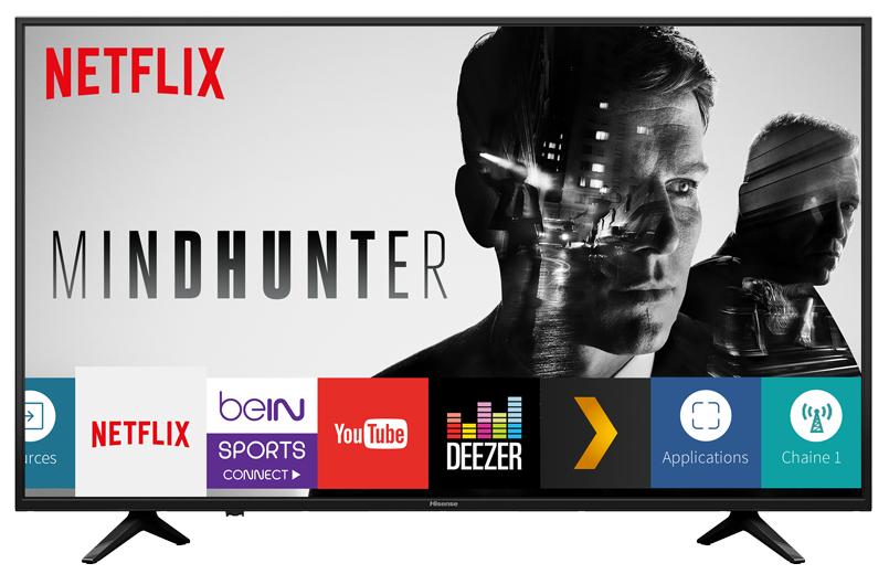 """TV LED 43"""" Hisense 43AE6030 - Dalle VA, UHD 4K, HDR, Smart TV + 14,95€ en Super Points"""
