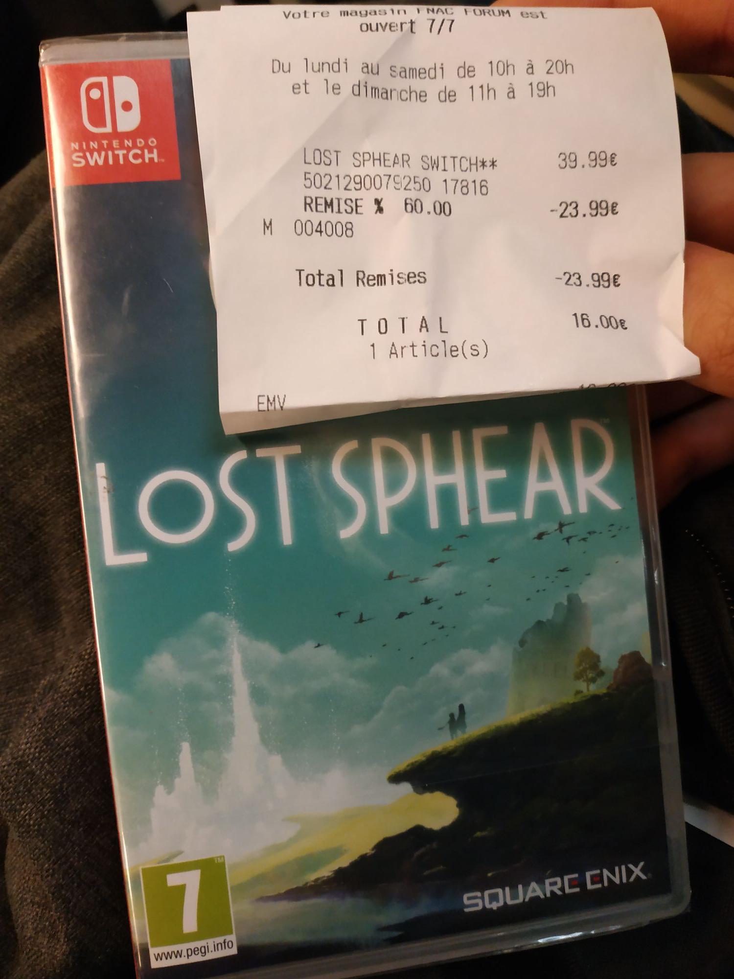 Lost Sphear sur Switch - Châtelet les Halle (75)