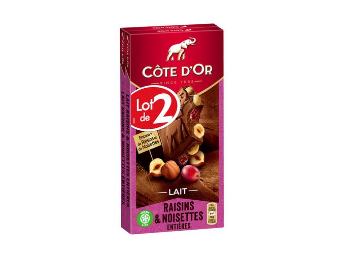 2 Tablettes de Chocolat Côte d'Or - 2x360g